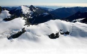 Обои холод, снег, горы