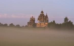 Картинка остров, Россия, Кижи, Церковь Преображения