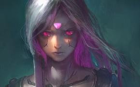 Картинка девушка, оружие, фантастика, арт, киборг, sci-fi