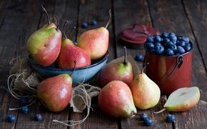 Картинка ягоды, фрукты, груши, голубика