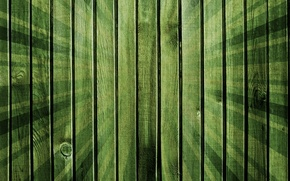 Обои лучи, зеленый, фон, доски, текстура