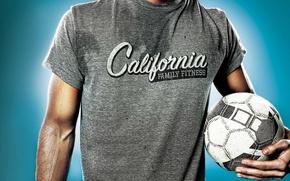 Картинка Family Fitness, мужчина, футбольный мяч, Billboard, California, майка