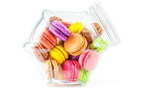 Обои colorful, печенье, десерт, sweet, dessert, cookies, macaron, макарун, almond