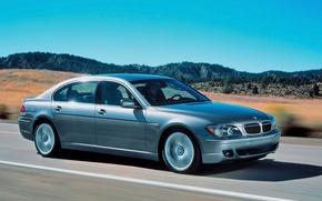 Обои дорога, BMW, silver