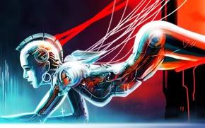 Картинка фантастика, робот, арт