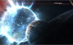 Картинка свет, планеты, галактика, Shine