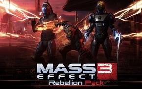 Картинка wallpaper, Mass Effect, gaming, Rebellion Pack, 2013