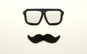 Картинка усы, очки, glass, moustache
