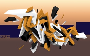 Картинка abstract, graffiti, line, photoshop, Firex