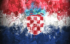 Картинка краски, флаг, герб, Хорватия, Republika Hrvatska, Республика Хорватия