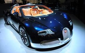 Обои цвет, Bugatti, veyron, салон, grand sports