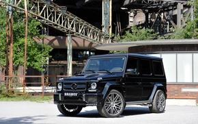 Картинка W463, 2015, Mercedes-Benz, Brabus, гелендваген, брабус, черный, Black, G 850, мерседес, G-Class, Gelandewagen