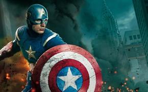 Обои Капитан Америка, Captain America, герой, маска, Мстители, The Avengers