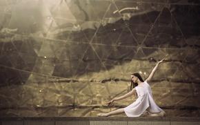 Обои балерина, танец, пуанты, грация