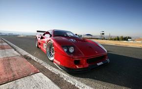 Картинка Авто, Машина, Ferrari, F40, Cуперкар, Вид спереди