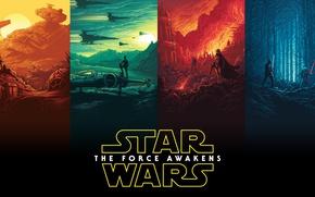 Обои Звёздные войны: Пробуждение силы, Finn, Rey, Star Wars: Episode VII - The Force Awakens