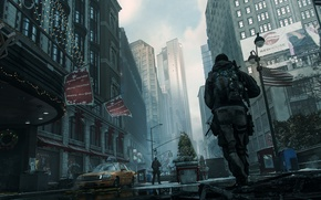 Картинка город, солдат, сша, нью йорк, The Division