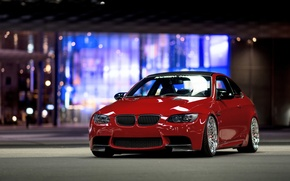 Картинка BMW, red, front, E92