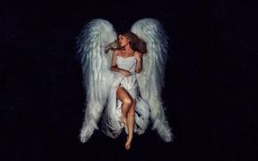 Картинка девушка, ангел, стрела