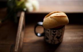 Картинка чай, хлеб, ужин