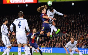 Картинка Barcelona, Real Madrid, C.Ronaldo, S.Ramos, Pique, Puel, R.Varan, H.Alonso, El Classoco