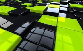 Картинка кубики, пол, cubed floor