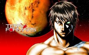 Картинка Марс, Mars, Акари Хизамару, Terra Formars, Терраформирование, Akari Hizamaru