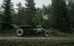 Обои chevrolet, chevy, hot rod, rat rod, v6, 540ci, сбоку