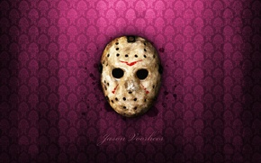 Обои friday the 13th, маска, wallpaper, ужас, джейсон