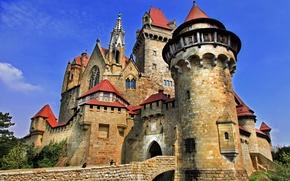 Картинка замок, башни, старинный, castle