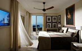 Картинка дизайн, дом, стиль, комната, вилла, интерьер, балкон, спальня