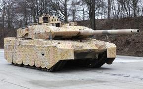 Картинка камуфляж, немецкий танк, Leopard 2A7+, (KMW), Krauss-Maffei Wegmann