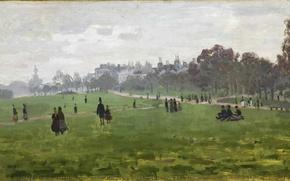 Обои claude monet, лондон, парк, картина, отдых