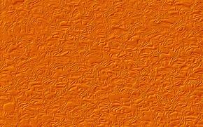 Обои рельеф, волны, оранжевый фон, текстура, фантазия