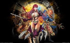 Обои Трусики, Магия, Волшебница, Руны, Online Game, Runes of Magic, Sexy