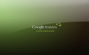 Обои зеленый, надпись, Google, Analytics, Computers, Google Analytics