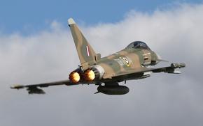 Картинка полёт, Eurofighter Typhoon, FGR4, истребитель, многоцелевой