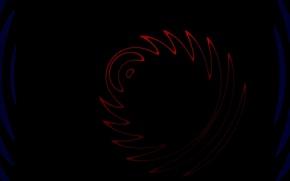 Картинка волны, абстракция, красное, кольцо, черное