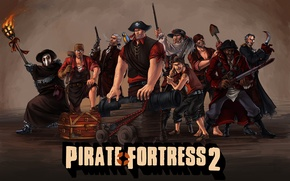 Картинка team fortress 2, tf2, valve, pirate fortress