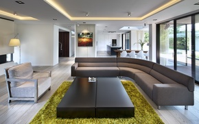 Картинка villa, luxury, kitchen, living space