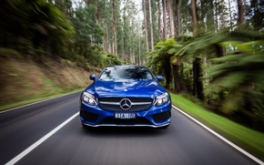 Картинка синий, Mercedes-Benz, мерседес, AMG, Coupe, C-Class, C205