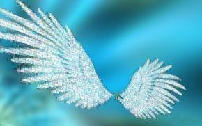 Картинка девушка, Аниме, вокалоид, крылья.