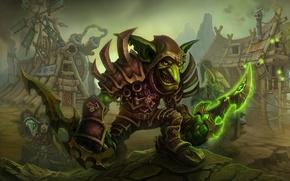 Обои деревня, Cataclysm, гоблины, World of Warcraft