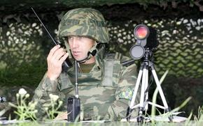 Картинка солдат, камуфляж, Россия, флора, Русский