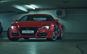 Картинка Concept, Audi, Red, Car, Auto, Front, Parking, Ligth, RSD