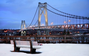 Обои зима, снег, нью-йорк, winter, new york, snow, usa, nyc, mid-hudson