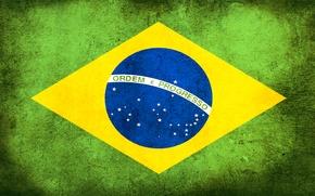 Обои флаг, грязь, Бразилия