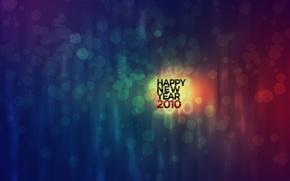 Обои 2010, кружочки, Новый год