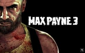 Обои max payne, Чёрный, Мужик, Кровь