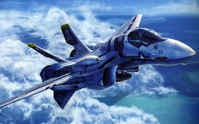 Обои рисунок, реактивный, самолёт